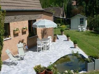 Frederic dumont cr ation entretien parc jardin jardinier contrat pavage cl ture for Creation d un etang de jardin
